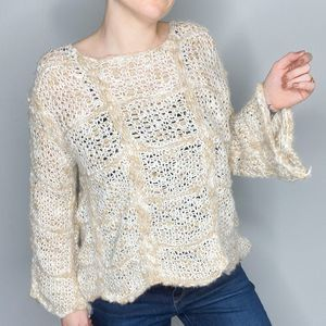 POL | loose knit roved scalloped sweater | Sz S